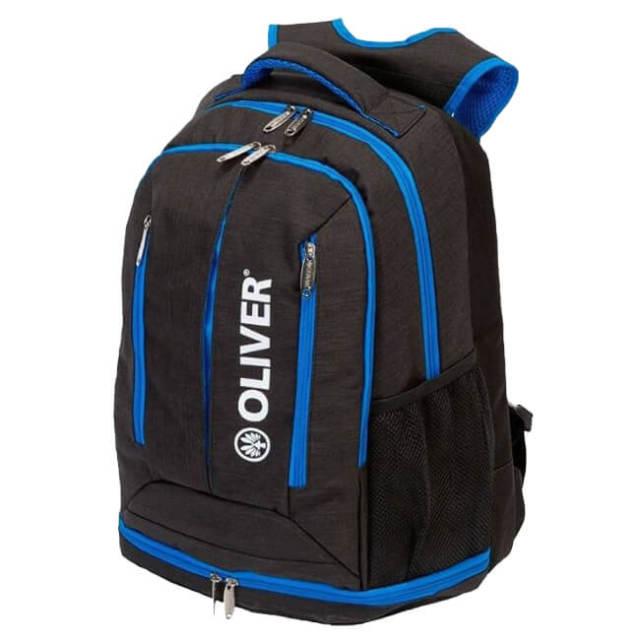 [ラケット収納可]OLIVER(オリバー) TOURNAMENT(トーナメント) バックパック C65049-ブラック×ブルー  スカッシュ・バドミントン・テニス(20y2m)
