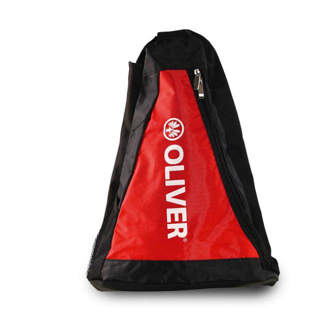 [バドミントン・スカッシュ][ラケット収納可]OLIVER(オリバー) 三角バッグ ラケットバッグ ワンショルダーバッグ C53026-ブラック×レッド(20y2m)