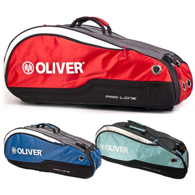 [バドミントン・スカッシュ][6本収納]OLIVER(オリバー) PRO LINE(プロライン) 二層ラケットバッグ C55111/C55113(20y2m)