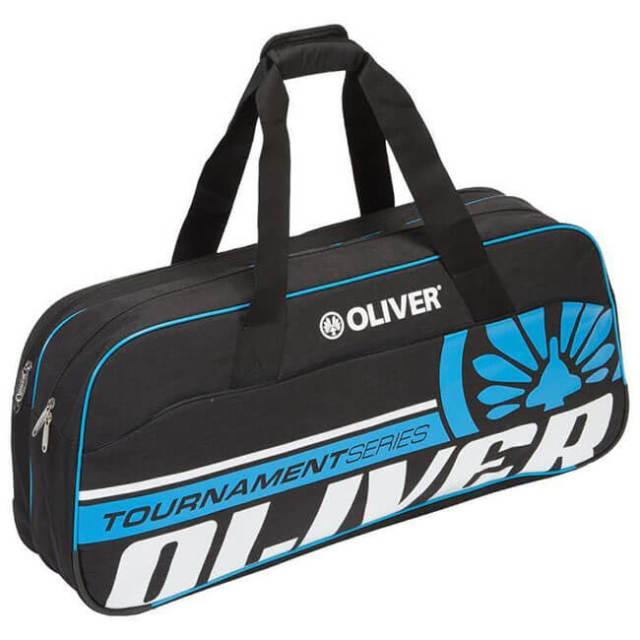 [バドミントン・スカッシュ][ラケット収納可]OLIVER(オリバー) TOURNAMENT(トーナメント) ダッフルバッグ C65048-ブラック×ブルー(20y2m)