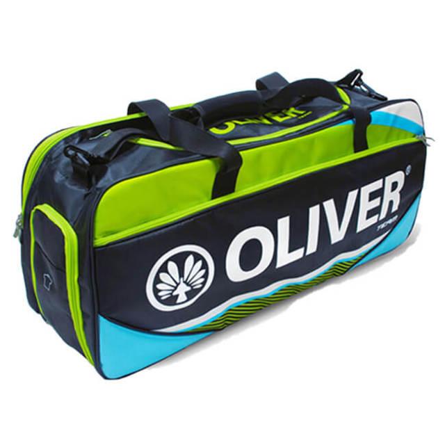 [バドミントン・スカッシュ][ラケット収納可]OLIVER(オリバー) TEAM LINE(チームライン) ダッフルバッグ C55119-ブルー×グリーン(20y2m)
