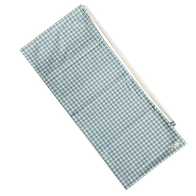[ラケットケース 便利なソフトタイプ]フェリーチェ(felice) テニスラケット用ソフトケース(2本収納可) ギンガムチェック(ライトブルーxオフホワイト) (19y9m)