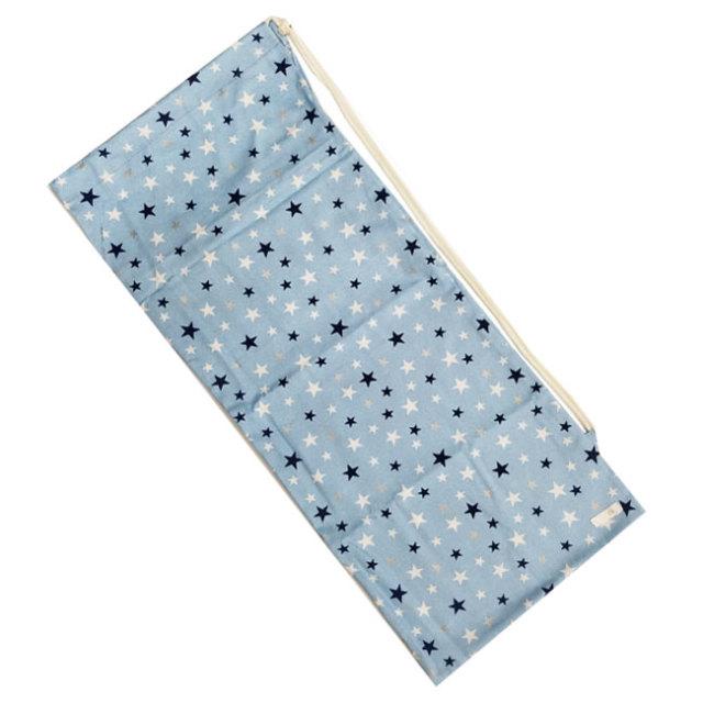 [ラケットケース 便利なソフトタイプ]フェリーチェ(felice) テニスラケット用ソフトケース(2本収納可) 星柄(スター柄)ライトブルー (19y9m)