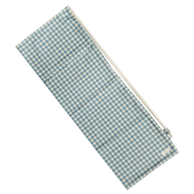 [ラケットケース 便利なソフトタイプ]フェリーチェ(felice) バドミントンラケット用ソフトケース(1本用) ギンガムチェック(ライトブルーxオフホワイト) (19y9m)