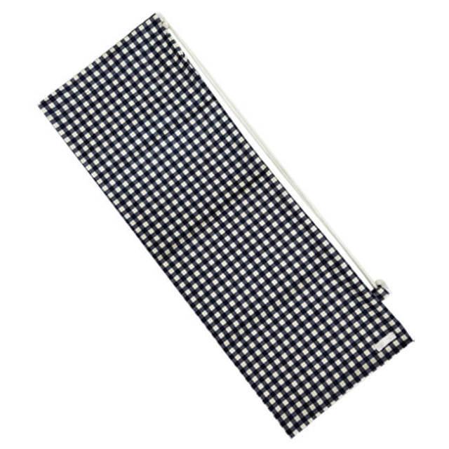 [ラケットケース 便利なソフトタイプ]フェリーチェ(felice) バドミントンラケット用ソフトケース(1本用) ギンガムチェック(ネイビーxオフホワイト) (19y9m)