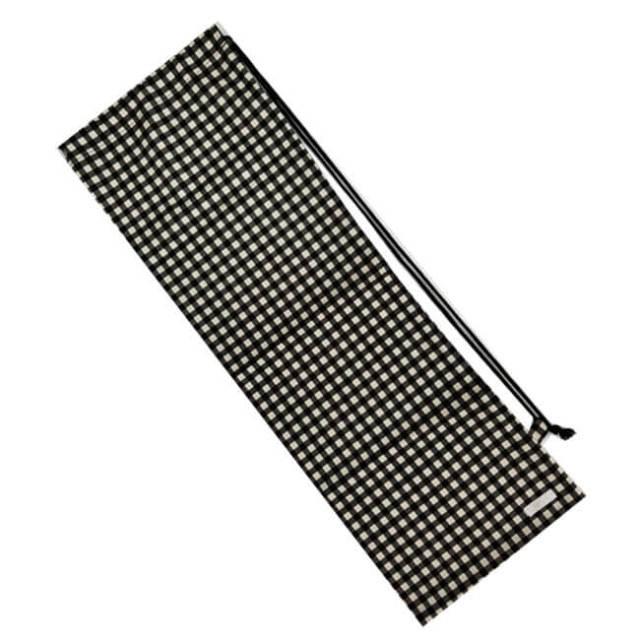[ラケットケース 便利なソフトタイプ]フェリーチェ(felice) バドミントンラケット用ソフトケース(1本用) ギンガムチェック(ブラックxオフホワイト) (19y9m)