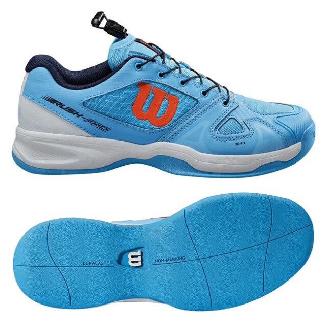 ウィルソン(Wilson) 2021 ジュニア ラッシュ プロ JR QL (カーペットコート用) テニスシューズ WRS326260-ボニーブルー×ホワイト(21y9m)