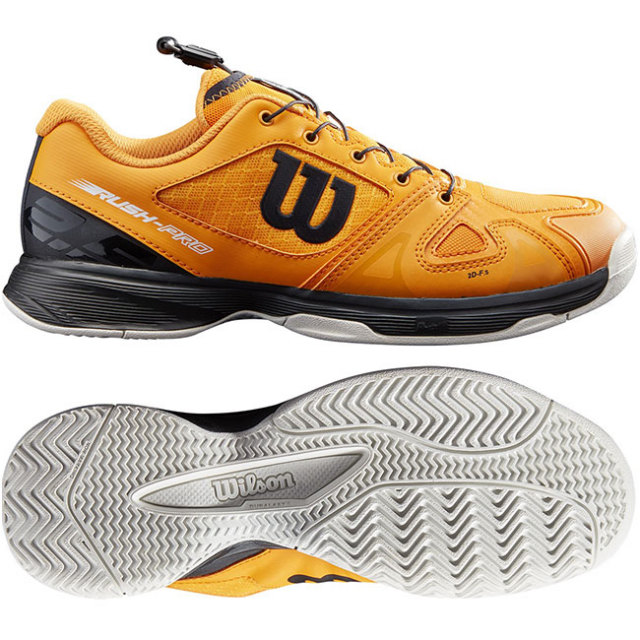 ウィルソン(Wilson) 2021 ジュニア ラッシュプロ JR QL (オールコート用) テニスシューズ WRS327880-オータムグローリー×ブラック(21y5m)
