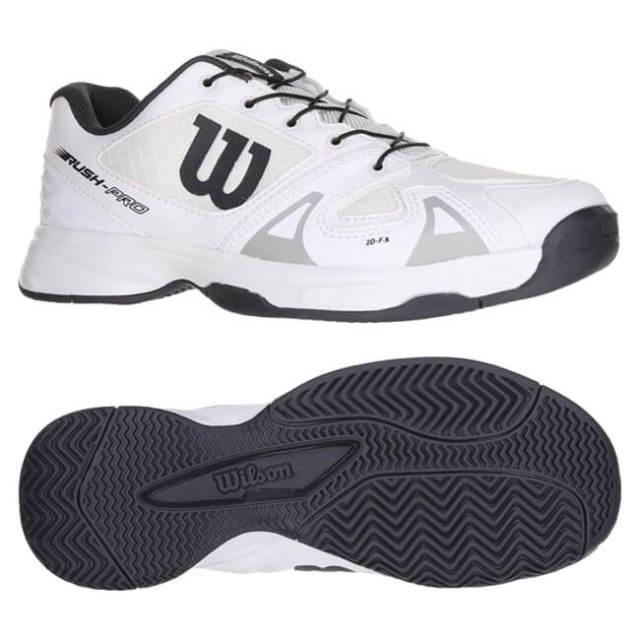 靴ひもの調節が楽チン!】ウィルソン(Wilson) ジュニア RUSH PRO JR QL ラッシュプロ (オールコート用) テニスシューズ WRS324960-ホワイト(19y7m)