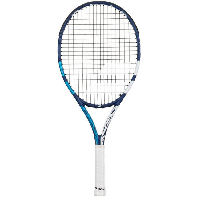 [グラファイトコンポジット素材]バボラ(Babolat) DRIVE JR 25 ドライブジュニア25 (230g) 海外正規品 硬式テニスジュニアラケット 140430/140442-148 BL×WH(21y1m)[NC]