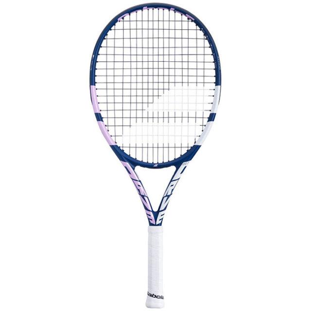 [100%グラファイト素材]バボラ(Babolat) ピュアドライブ ジュニア 25(240g) 2021 海外正規品 硬式テニスジュニアラケット 140422-348 ブルー×ピンク(20y10m)[AC]