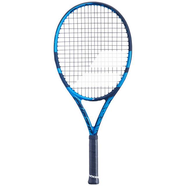 [100%グラファイト素材]バボラ(Babolat) ピュアドライブ ジュニア25(240g) 2021 海外正規品 硬式テニスジュニアラケット 140417/140434-136 ブルー(20y10m)[NC]