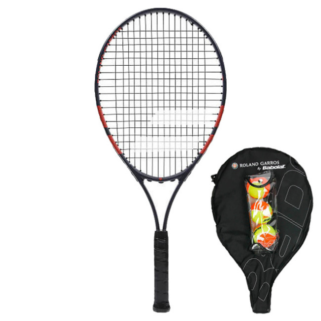 [オレンジボール3球付]バボラ(Babolat) 2019 ジュニア 25 フレンチオープン (220g) 海外正規品 硬式テニスジュニアラケット 190016-655 ダークブルー×オレンジ(19y4m)[AC]