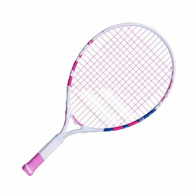 バボラ(Babolat) 2019 B-FLY 21 (190g) ホワイト×ローズピンク 海外正規品 硬式テニスジュニアラケット 140243-301(19y2m)