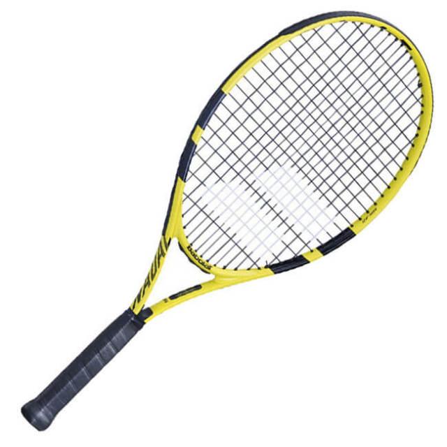 バボラ(Babolat) 2019 ナダルジュニア 26 (245g) イエローブラック 海外正規品 硬式テニスジュニアラケット 140250-191(19y2m)