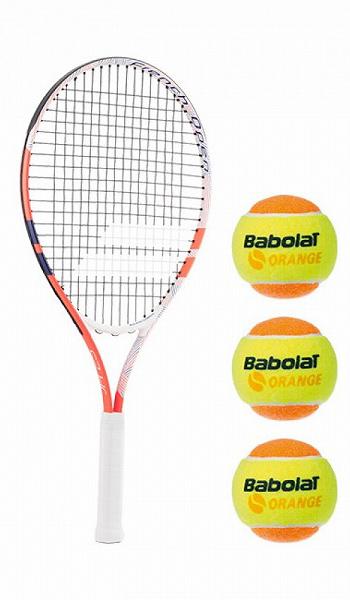 【オレンジボール3球付きでこの価格】バボラ(BABOLAT) 2018 ジュニア25 フレンチオープン(海外正規品) 190013 (18y6m)