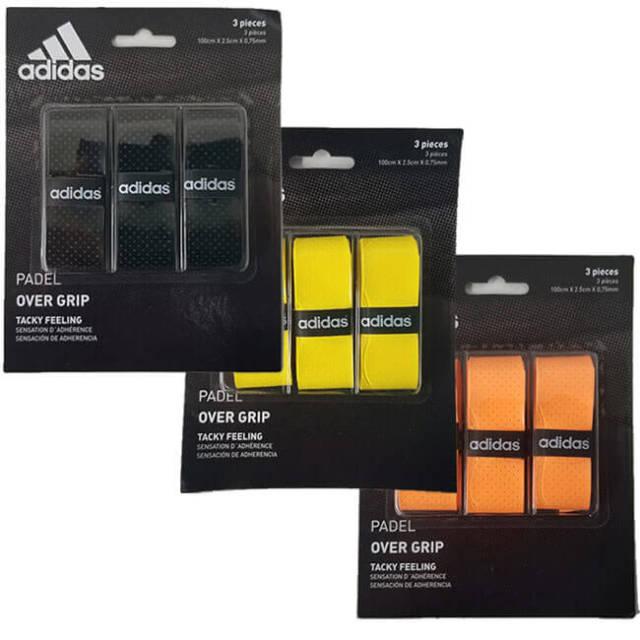 [3本セット]アディダス(adidas) パデル用 オーバーグリップテープ タッキーフィーリング OG01BK/OG01YE/OG01OR(19y9m)