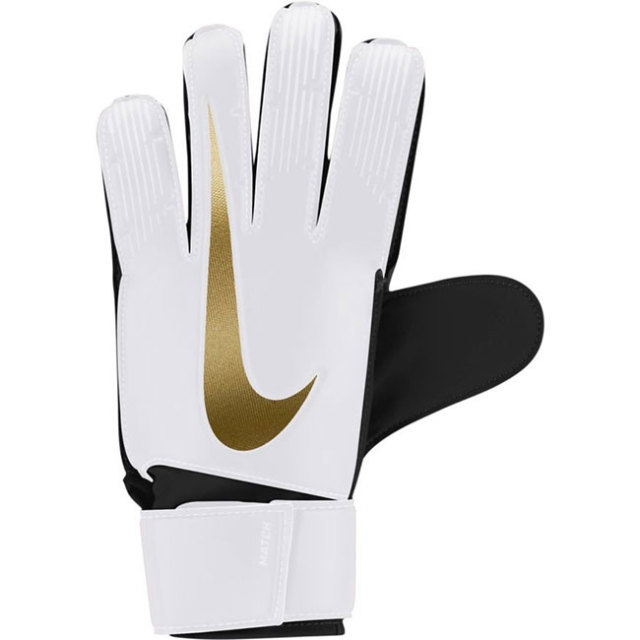 在庫処分特価】ナイキ(NIKE) GK マッチ ゴールキーパー グローブ サッカーグローブ 手袋 GS3370-101 ホワイト×ブラック×メタリックビビッドゴールド(20y4mサッカー)