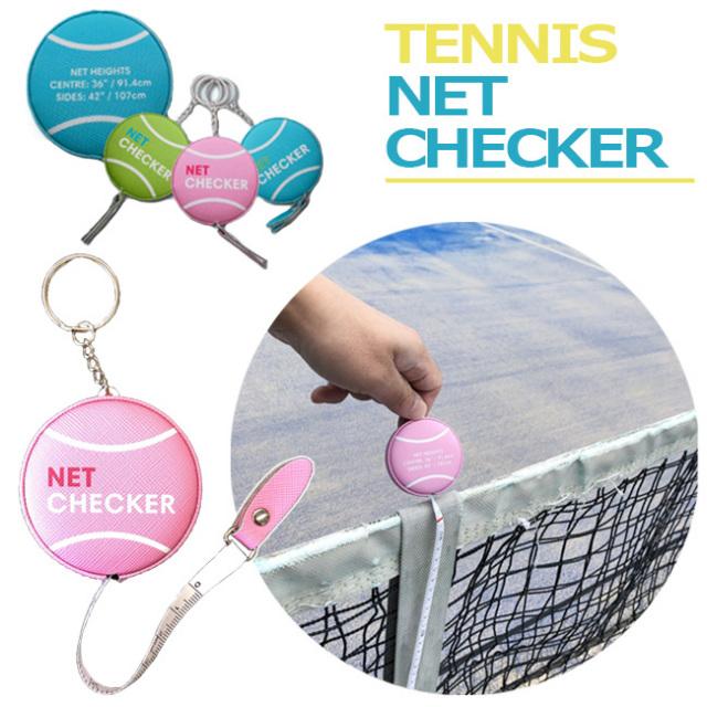 [ネットの高さを測れるキーホルダー] [選べる3color] ネットチェッカー テニス ネット メジャー 巻き尺 キーホルダー (21y10m)