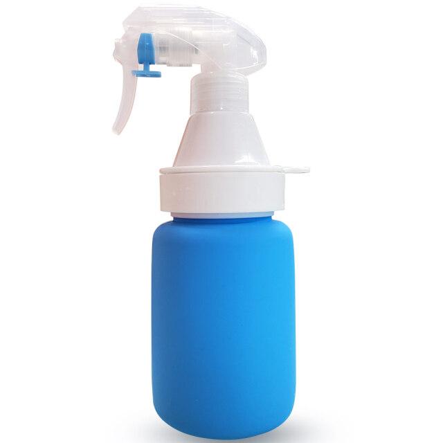 氷を入れて冷たい水を噴射!凍らせて保冷に使ってもOK!シリコンボトルスプレー 暑さ対策 熱中症予防 アイスバッグスプレー (20y8m)