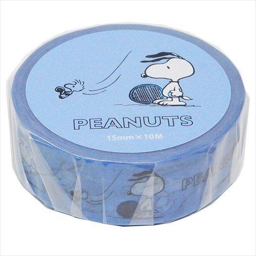 PEANUTS(ピーナッツ) SNOOPY(スヌーピー) マスキングテープ テニス柄 ブルー SPV-228(19y11m)