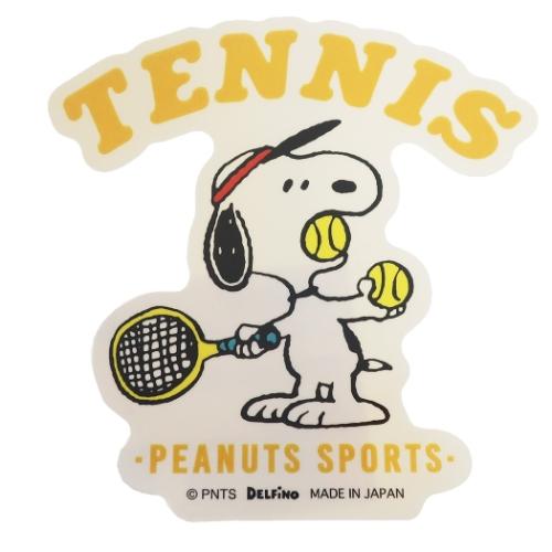 PEANUTS(ピーナッツ) SNOOPY(スヌーピー) ダイカットステッカー テニス柄 P-13782(19y11m)
