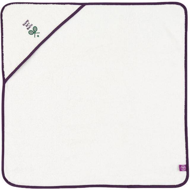 クリスティ(Christy) ウィンブルドン ゲームセット バス クードル ローブ 70x70cm ホワイト(18y7m)