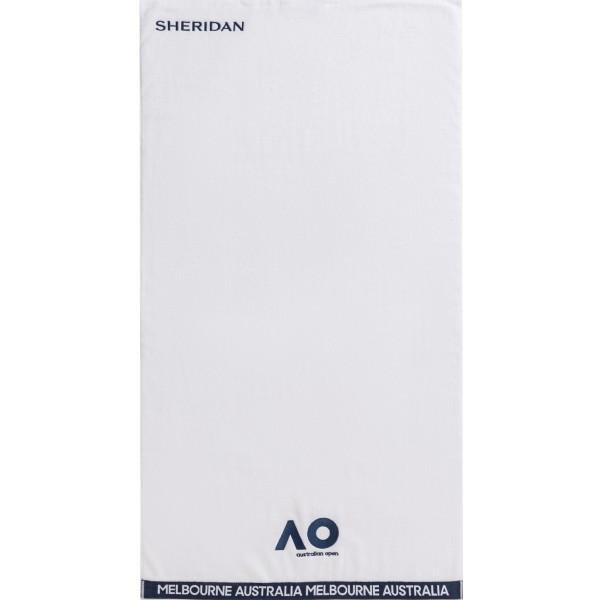 オーストラリアン オープン オンコートタオル(70cm×130cm) ホワイト×ネイビー S14AQA-001(17y12m)