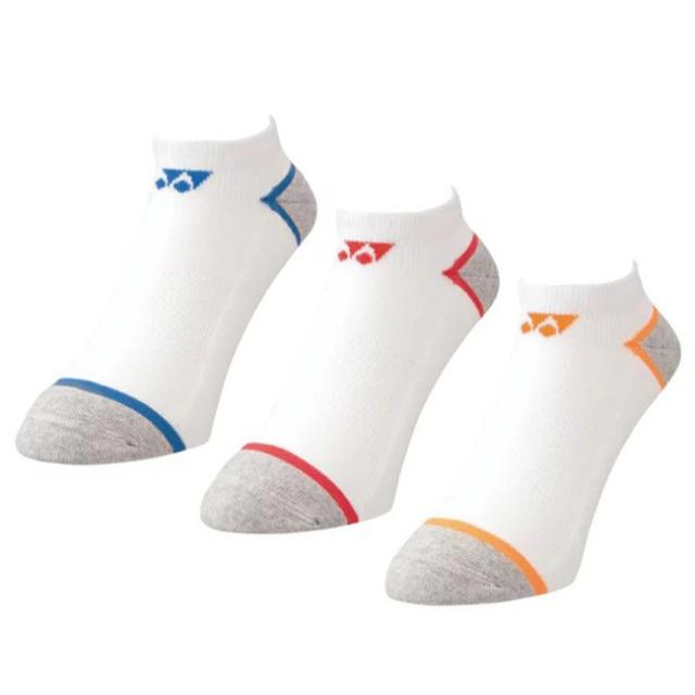 「3足組」ヨネックス(YONEX) ジュニア スニーカーインソックス 3P キッズ こども用くるぶし丈靴下 19-22cm 19184JY-080 アソート(21y7m)