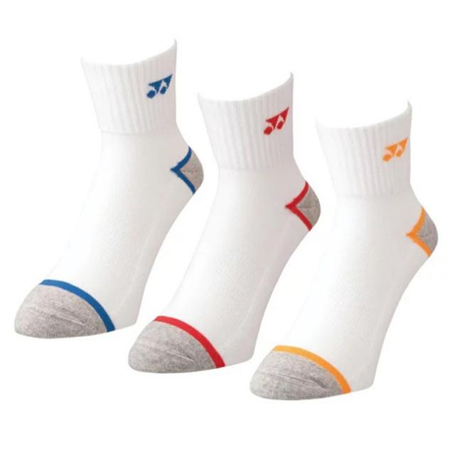 「3足組」ヨネックス(YONEX) ジュニア アンクルソックス 3P キッズ こども用靴下 19-22cm 19183JY-080 アソート(21y7m)