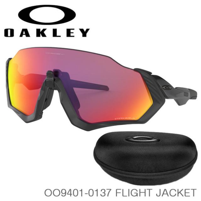 オークリー(Oakley) スポーツサングラス(スタンダードフィット) FLIGHT JACKET (フライトジャケット) 海外正規品 OO9401-0137 Matte Black/Prizm Road(20y10m)