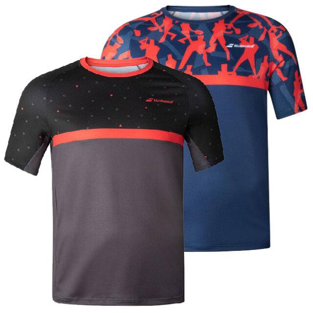 在庫処分特価】バボラ(Babolat) 2020 FW ジュニア(ボーイズ) COMPETE(コンピート) クルーネック半袖Tシャツ 2BF20011(20y9mテニス)