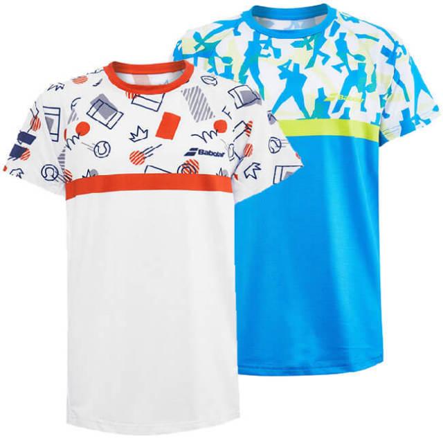 在庫処分特価】バボラ(Babolat) 2020 ジュニア(ボーイズ) COMPETE(コンピート) クルーネックTシャツ 2BS20011(20y2mテニス)