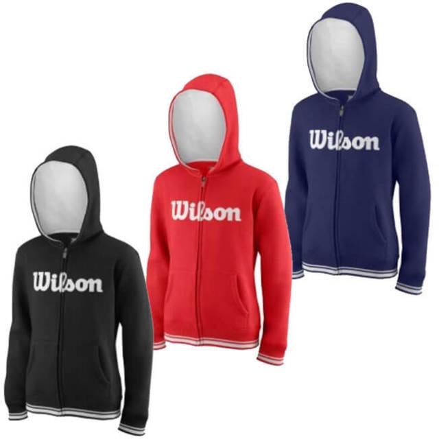 在庫処分特価】ウィルソン(Wilson) ジュニア(ユニセックス) チーム スクリプト FZ フーディ WRA7670(19y2mテニス)