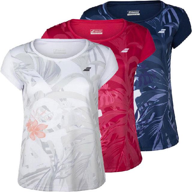 バボラ(Babolat) 2020 ジュニア(ガールズ) EXERCISE(エクササイズ) グラフィック半袖Tシャツ 4GTA012(20y8mテニス)