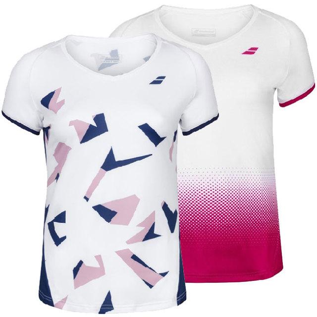 バボラ(Babolat) 2020 ジュニア(ガールズ) COMPETE(コンピート) ラグラン袖Tシャツ 2GS20031(20y2mテニス)