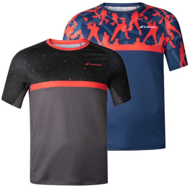 [USサイズ]バボラ(Babolat) 2020 FW メンズ COMPETE(コンピート) クルーネック半袖Tシャツ 2MF20011(20y9mテニス)