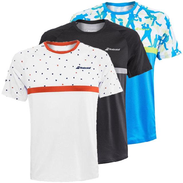 [USサイズ]バボラ(Babolat) 2020 SS メンズ COMPETE(コンピート) クルーネックTシャツ 2MS20011(20y2mテニス)