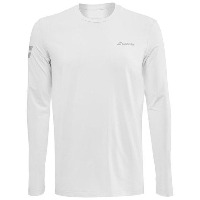 [USサイズ]バボラ(Babolat) 2020 メンズ PLAY(プレー) 長袖Tシャツ 3MP1111-1000 ホワイト×ホワイト(20y2mテニス)