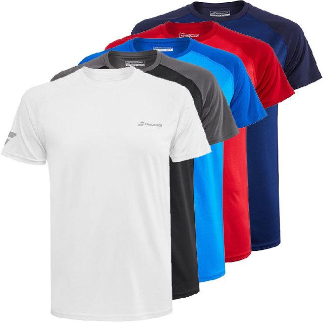 [USサイズ]バボラ(Babolat) 2020 メンズ PLAY(プレー) クルーネックTシャツ 3MP1011(20y2mテニス)