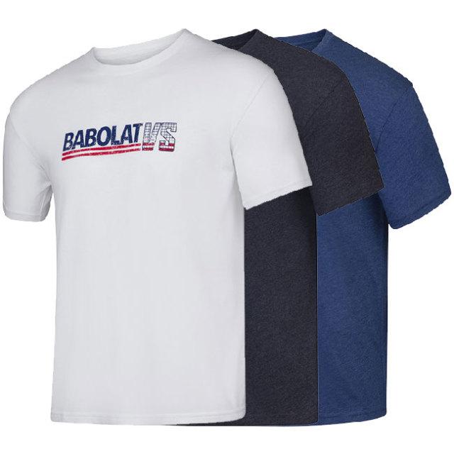 [USサイズ]バボラ(Babolat) 2020 SS メンズ エクササイズ ビンテージ Tシャツ 4MS20443(20y2mテニス)