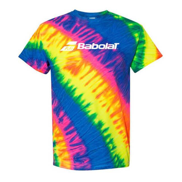 [USサイズ]バボラ(Babolat) メンズ 絞り染め ロゴTシャツ 911105U13-タイダイ(20y1mテニス)