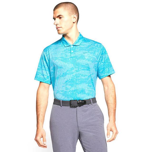 [USサイズ]ナイキ(NIKE) 2020 メンズ DRI-FIT ヴェイパー カモフラ柄半袖ポロシャツ BV0478-486 ブルーフューリー×ブルーゲイズ(20y8mゴルフ)