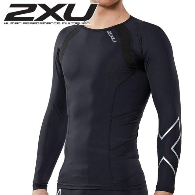 2XU(ツータイムズユー) メンズ コンプレッション ロングスリーブトップ(MA2308A)COMPRESSION L/S TOP PWX長袖シャツ(18y8m)