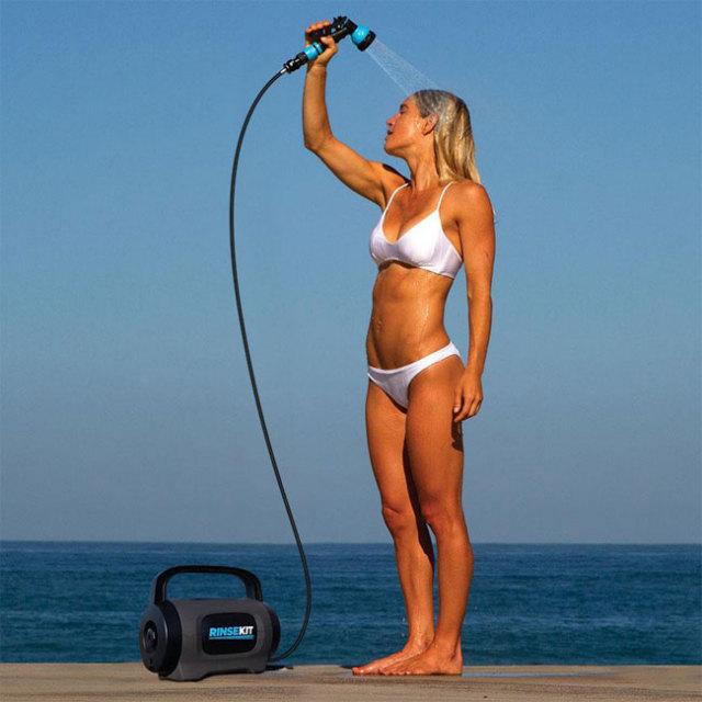 RINSEKIT(リンスキット) Pod 加圧式簡易シャワー アウトドアやマリンスポーツに大容量6.8L(19y5m)