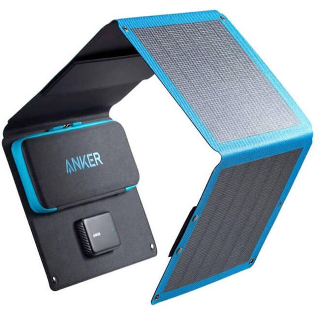 Anker(アンカー) ソーラーパネル充電器 3ポート USBソーラーチャージャー A2425011-ブラック(21y3m)