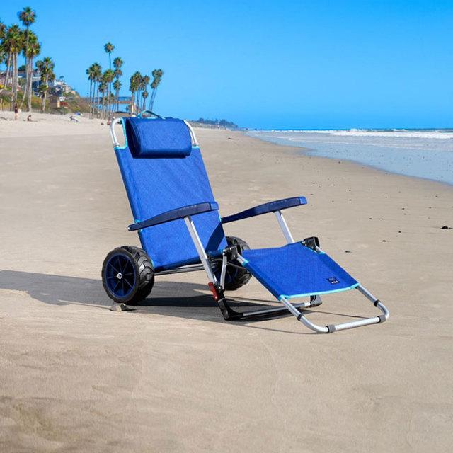 MAC SPORTS(マックスポーツ) BEACH DAY ビーチデイ ラウンジャーカート 2001130-ブルー(21y3m)