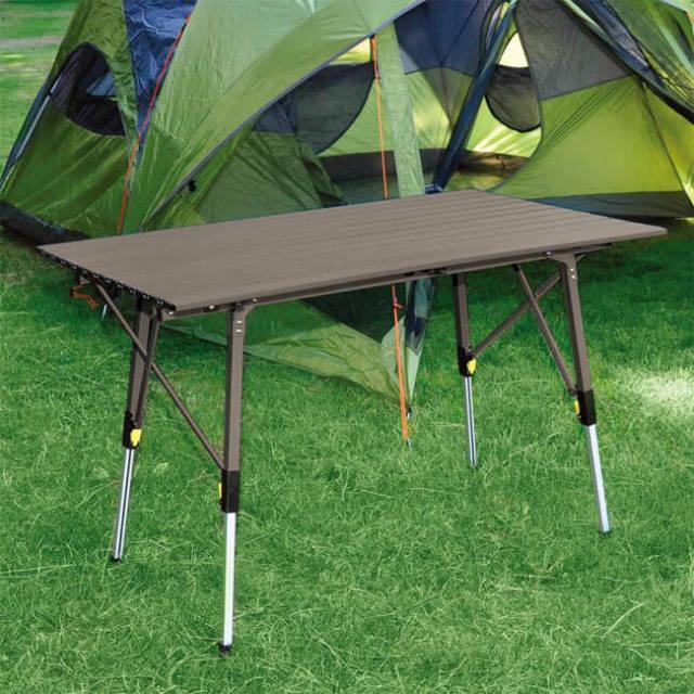 [用途によって高さ変更可]ティンバーリッジ(Timber Ridge) アルミニウム フォールディングテーブル キャンプテーブル 折り畳み式テーブル 1425672(21y1m)