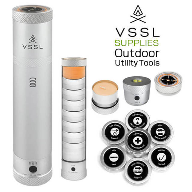【ライト付きツールセット】 ベッセル(VSSL) サプライ アウトドア LEDライト・コンパス/ ユーティリティツールセット SUPPLIES(18y12m)