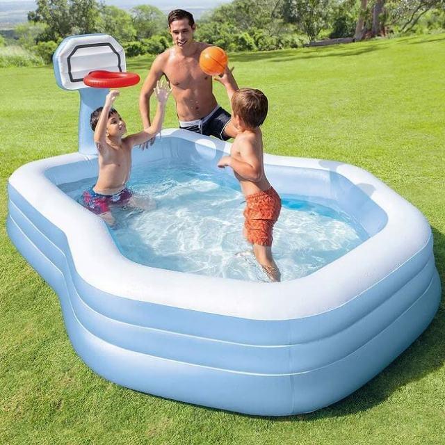 インテックス(INTEX) スイムセンター シューティングフープ ファミリープール ビニールプール 水遊び 家庭用プール 57183NP(21y2m)